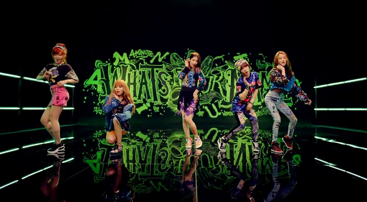 "4Minute Releases Their Comeback MV for ""What's Your Name?"""