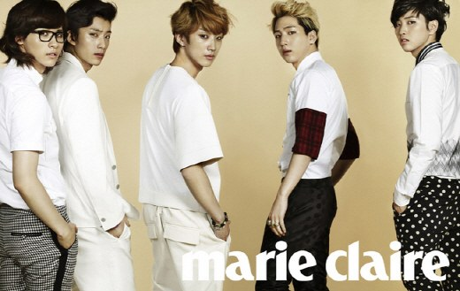 "B1A4 Are Chic, Modern Men for ""Marie Claire"""