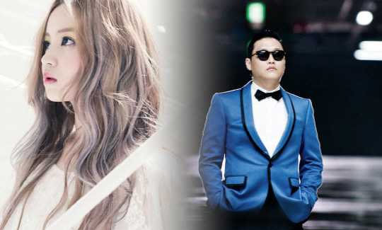 Lee Hi and PSY