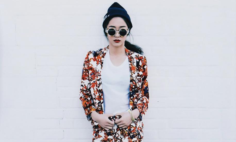 "f(x)'s Krystal is Street Chic for ""Harper's Bazaar"""