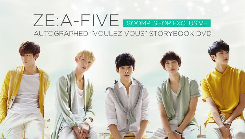"""[Soompi Shop] Autographed ZE:A FIVE """"Voulez Vous"""" Storybook DVD Special!"""