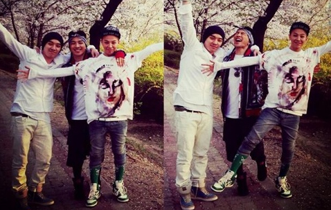 [SNS Pics] G-Dragon, Taeyang, and Seungri Enjoy the Spring Weather