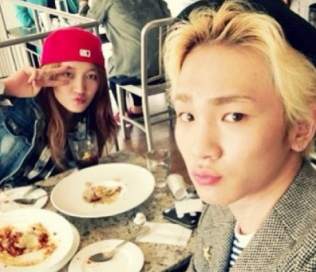 [SNS PIC] miss A's Jia Grabs a Meal with SHINee's Key