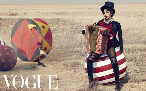 Lee Hyori is a Circus Beauty for Vogue