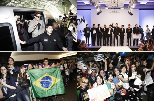 Super Junior Arrives in Brazil, Finds Time to Do Charity!