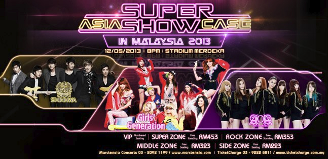 Girls' Generation, Shinhwa and AOA to Perform at the 2013 Asia Super Showcase in Malaysia