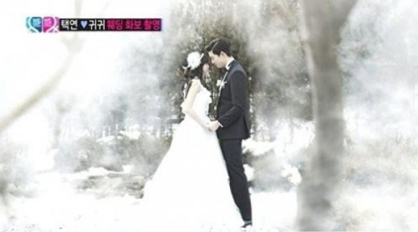 Taecyeon and Gui Gui Hold a Wedding Photo Shoot