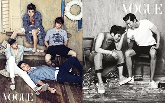 "2PM Members are Friends on Vacation in ""Vogue Korea"" Pictorial"