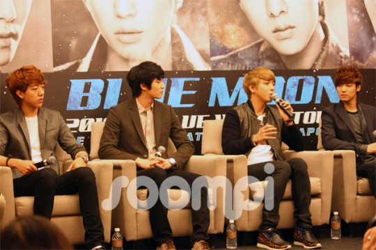 """[Exclusive Video] CNBlue Talks About """"Blue Moon World Tour"""", Dramas and Speaks Singlish"""