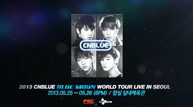 """CNBlue Unveils Teaser for """"BLUE MOON"""" World Tour Live in Seoul"""