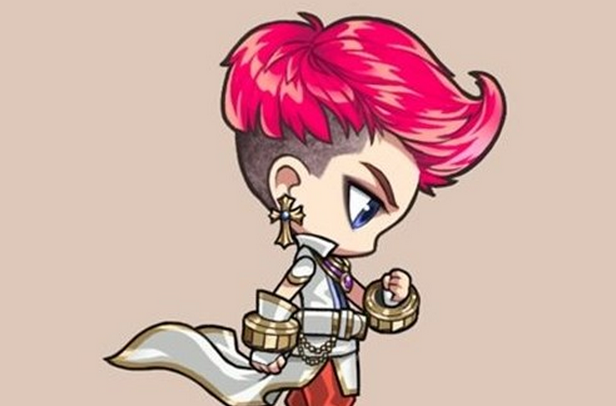 Gaho Protects G-Dragon in a Mobile Game