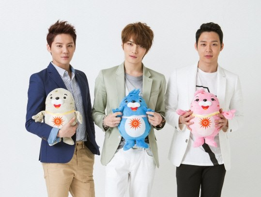 """JYJ Records Cheer Song for """"17th Asian Games Incheon 2014"""""""