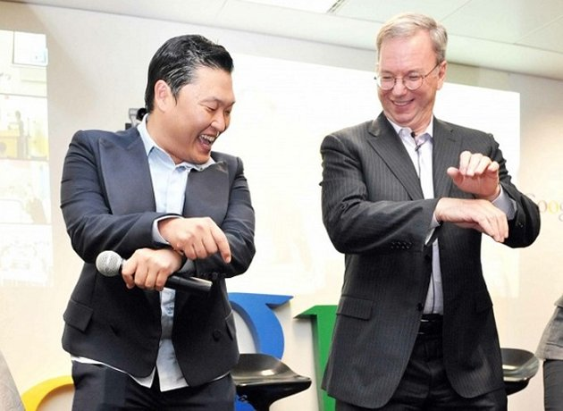 [SNS PIC] PSY Reunites with Google Executive Chairman Eric Schmidt
