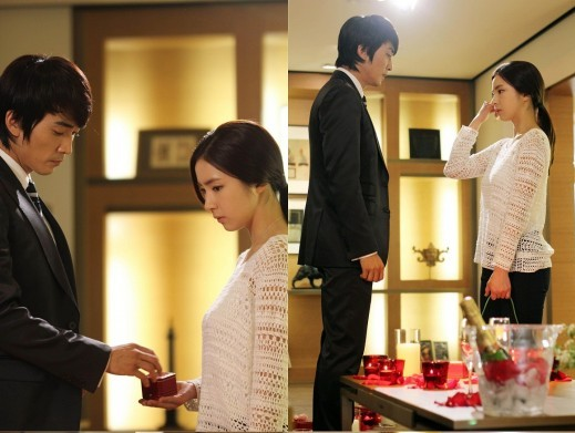 Undisclosed Stills from Song Seung Hun and Shin Se Kyung's Kiss Scene Released