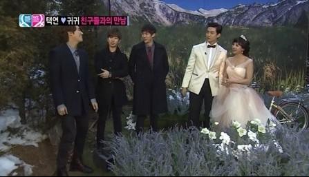 Seulong, G.O., and Kwanghee visit Taecyeon and Gui Gui's Wedding Photo Shoot