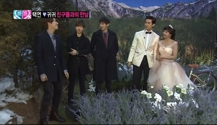 Seulong, G.O., and Kwanghee visit Taecyeon and Gui Gui's Wedding Photo Shoot