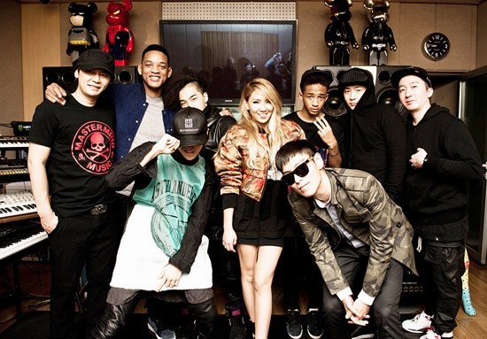 Will Smith and Son Jaden Meet Up with YG Family