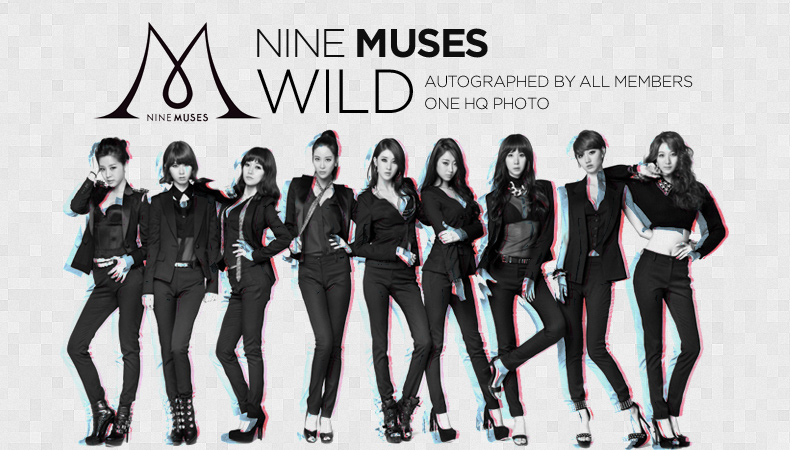 """[Soompi Shop] Autographed Nine Muses """"Wild"""" Special Package!"""