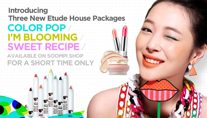[Soompi Shop] Announcing Three New Etude House Cosmetic Packages!