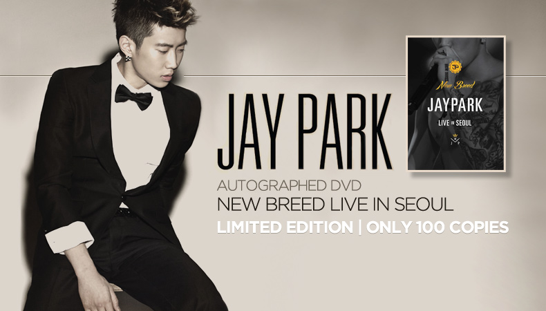 """[Soompi Shop] Autographed Jay Park """"New Breed Live in Seoul"""" DVD Special!"""