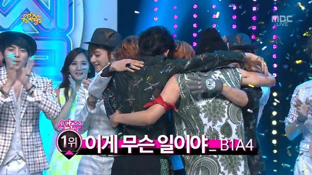 MBC Music Core 05.18.13 – B1A4 Takes Their First Ever Music Show Win