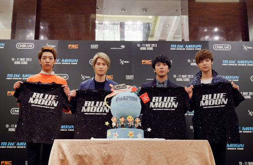 CNBlue Donated Proceeds from Concert T-Shirt Auction to Hong Kong Red Cross