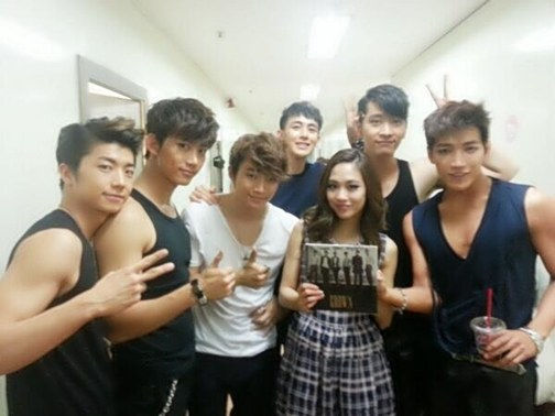 miss A's Fei Snaps a Photo with 2PM