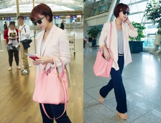 Hwang Jung Eum Wows Her Fans with Her Elegant Airport Fashion