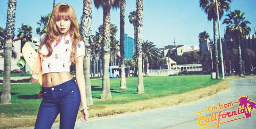 "HyunA is a Gorgeous California Girl for ""G by Guess"""