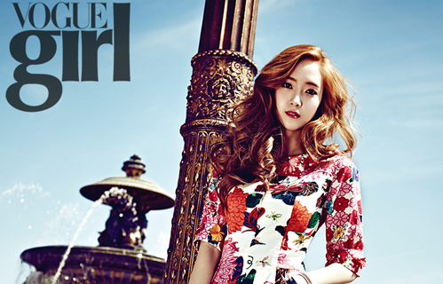"Girls' Generation's Jessica Shows Legs for ""Vogue Girl"""