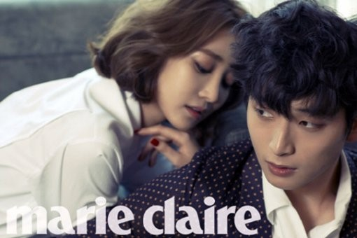 "2AM's Jinwoon and Go Joon Hee Get Close and Personal for ""Marie Claire"""