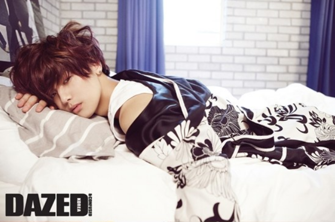 "CNBlue's Kang Min Hyuk Just Woke Up ""Dazed"""