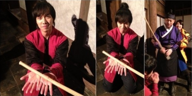 "Lee Seung Gi Gets ""Punished"" for His Naughty Hand"