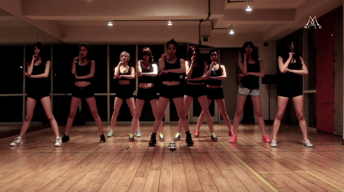 """Nine Muses Show Off Their Sexy Choreography in """"Wild"""" Dance Practice"""