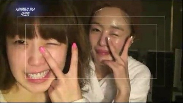 Secret's Hyosung and Sunhwa Reveal Their Bare Faces on TV