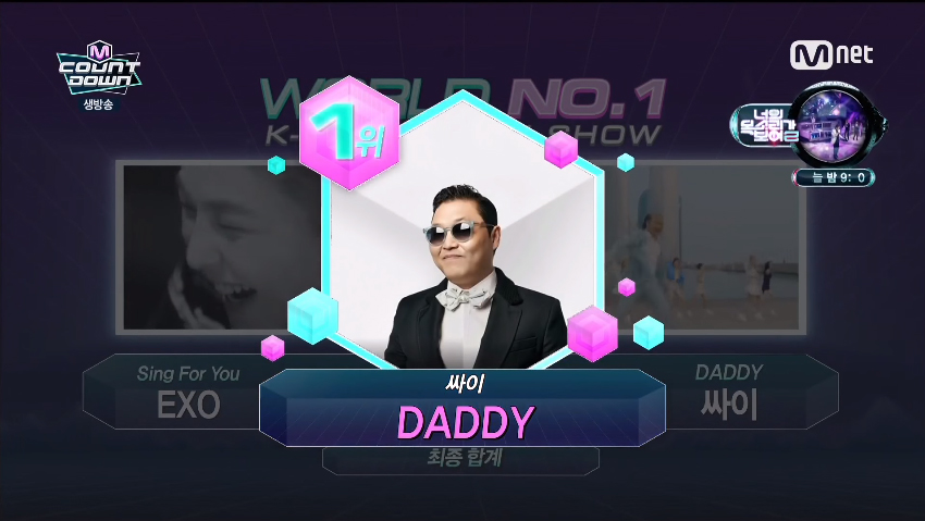"PSY Wins on M!Countdown With ""Daddy"""