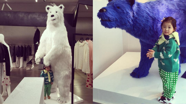 Peek Into Uhm Ji On's Adorable and Innocent Day Posing With Polar Bears