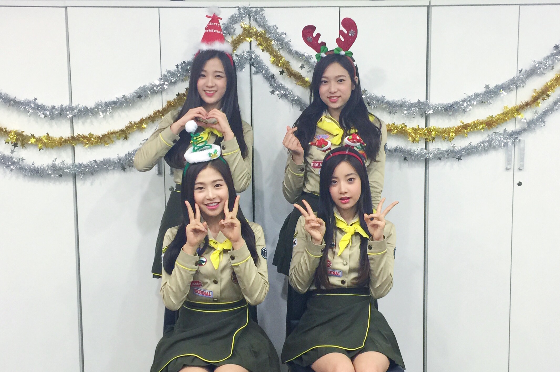 "Exclusive: April Plays K-pop ""Heads Up"" and Wishes You a Merry Christmas"
