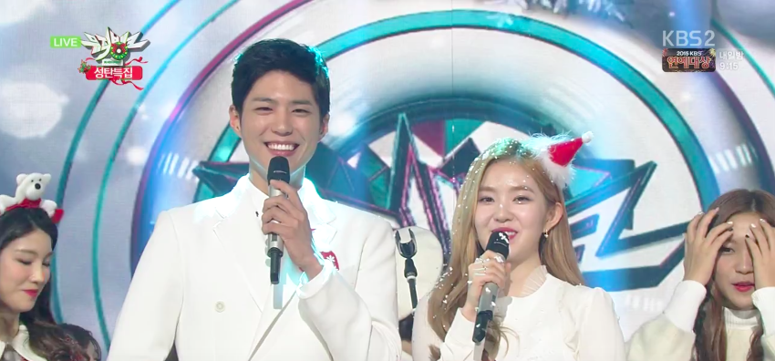"Watch: Special Stages Abound on ""Music Bank"" Christmas Broadcast"