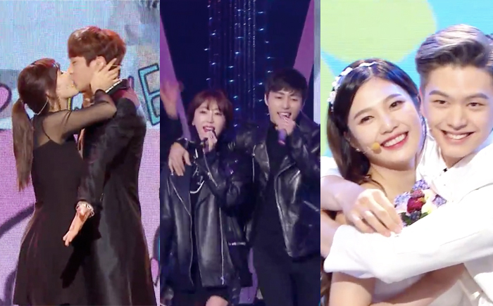 """We Got Married"" Couples Put on Cute Performances During ""2015 MBC Entertainment Awards"""