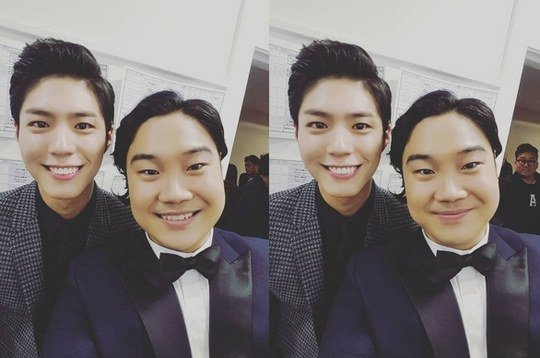 "Yoo Jae Hwan Fanboys Over ""Reply 1988"" Star Park Bo Gum"
