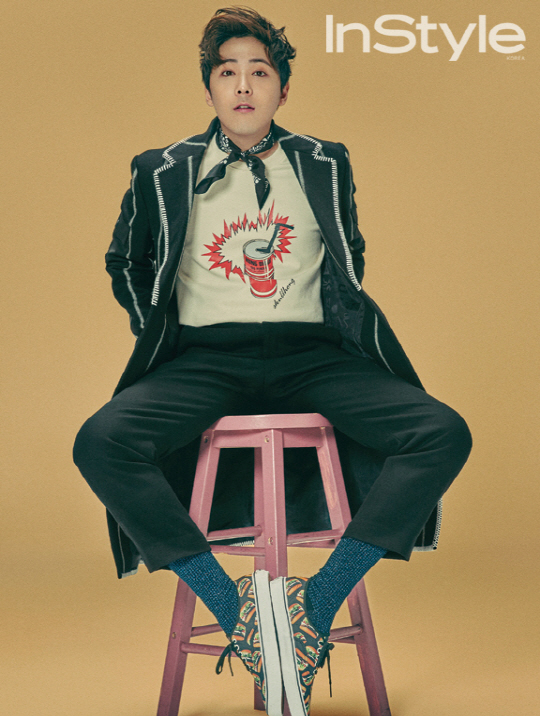 Lee Hong Ki Shows Off His Own Fashion Brand in InStyle