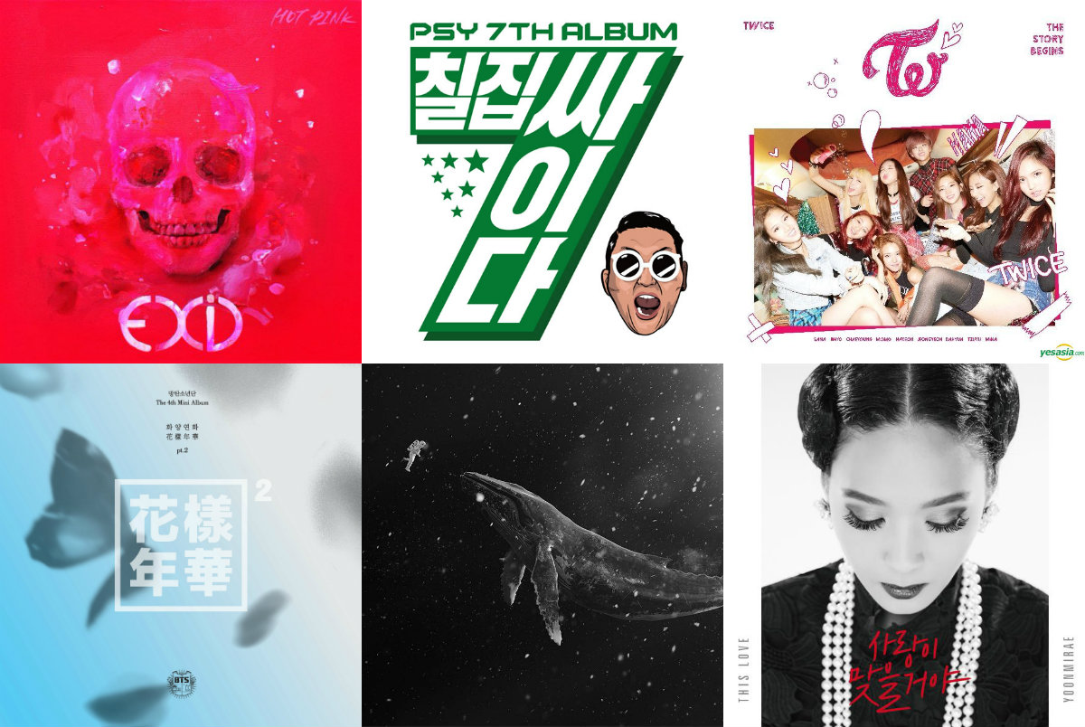 Weekly K-Pop Music Chart 2016 – January Week 1
