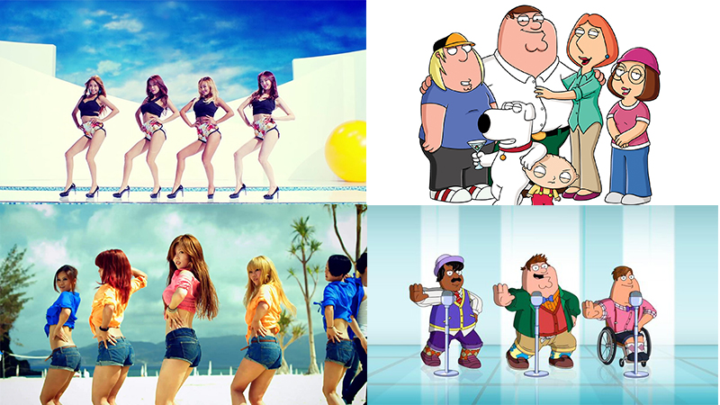 "SISTAR's ""Touch My Body"" and HyunA's ""Bubble Pop"" Featured on US TV Through ""Family Guy"""