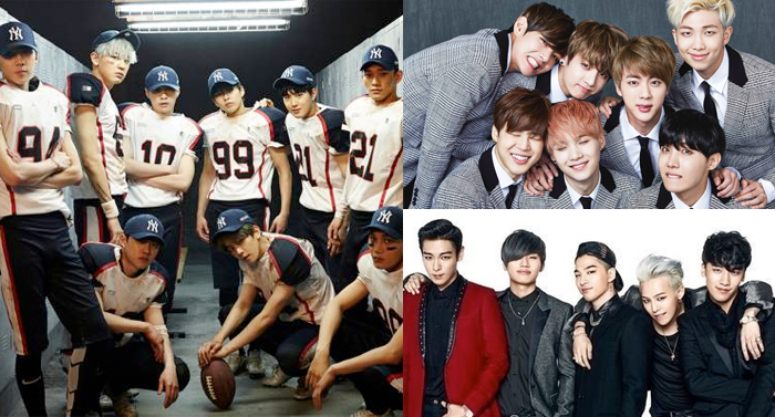 EXO, BTS, and BIGBANG Gain Impressive Number of New Subscribers on Naver's V App