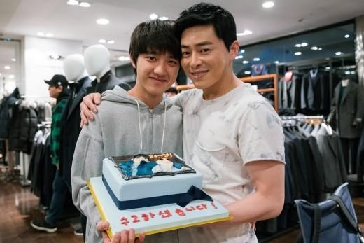 "EXO's D.O, Jo Jung Suk, and Park Shin Hye Wrap Up Filming ""Hyung"" In Smiles"