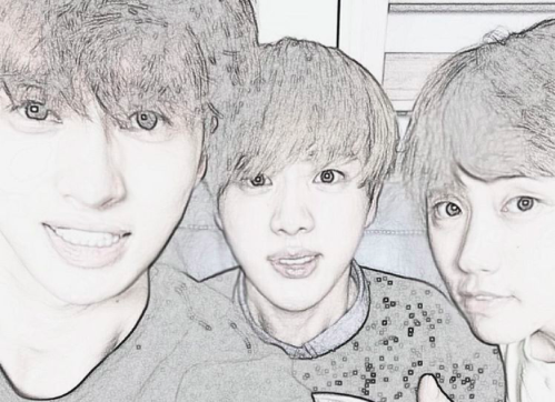 VIXX's Ken, BTS's Jin, and B1A4's Sandeul Show Off Friendship