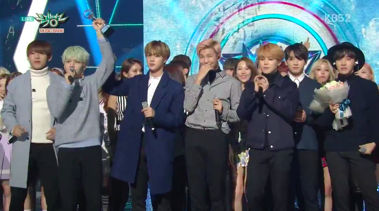 "BTS Takes 5th Win for ""Run"" on ""Music Bank,"" Performances by Dal Shabet, Lucky J, and More"