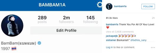 BamBam Instagram