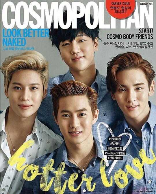 Yesung, Key, Taemin and Suho Make a Handsome Quartet for Cosmopolitan